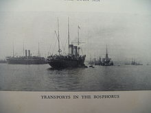 Russkaya eskadra transports in the bosporus.JPG