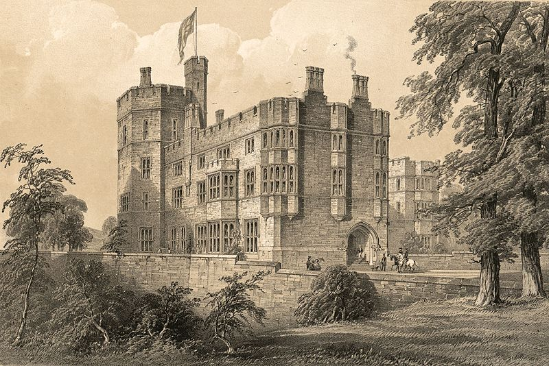 File:Ruthin Castle, Denbighshire - south west view of buildings recently erected.jpeg