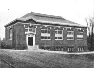 Buel oversaw construction of Ryan Gymnasium in 1905. Ryan Gymnasium Georgetown University.png