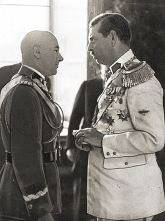 Edward Rydz-Śmigły - Marshal Rydz-Śmigły and Carol II of Romania, 1937