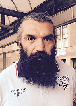Sébastien Chabal in het tenue van Racing Métro.