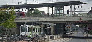 Hanover S-Bahn - Hannover-Linden/Fischerhof station (S-Bahn above, Stadtbahn under)