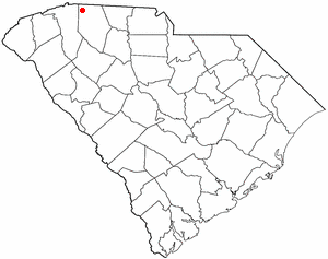 Campobello, South Carolina - Image: SC Map doton Campobello