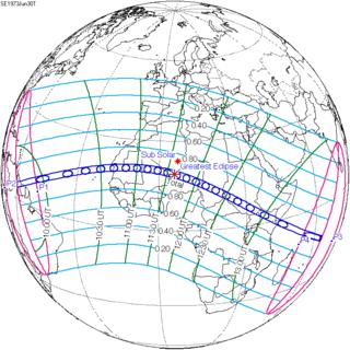 Solar Eclipse Of June 30 1973 Wikipedia