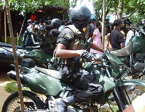 Sri Lanka Army Special Forces Regiment - A Combat Rider team of the Special Forces.