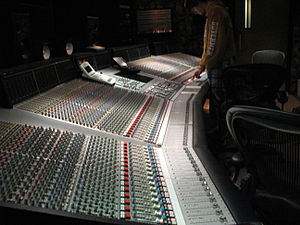 The Way I See It - Saadiq's recording studio featured an SSL 9000 mixing console (pictured).