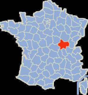 Communes of the Saône-et-Loire department - Image: Saône et Loire Position