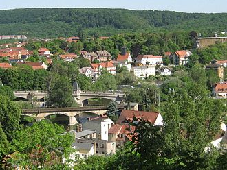 Bad Kösen - Image: Saalebrücken in Bad Kösen