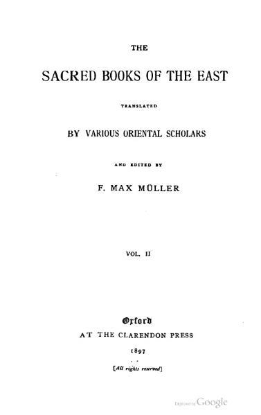 File:Sacred Books of the East - Volume 2.djvu