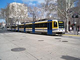 Gold Line (Sacramento RT) light rail transit line in the Sacramento Regional Transit District (RT) light rail system
