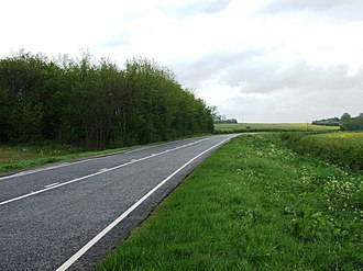 Newton and Haceby - A52 near Haceby. The right hand side of the picture is in the parish
