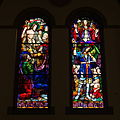 Saint Aloysius Church (Columbus, Ohio) - stained glass, He will come again to judge the living and the dead.jpg