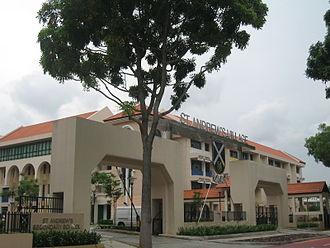 Saint Andrew's School, Singapore - The St Andrew's Village now houses all three schools of St Andrew's School, three churches, a hostel named St Andrew's Hall, as well as The Diocese of Singapore.