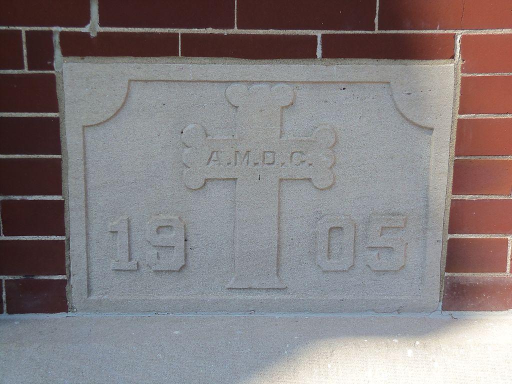 Charming Cornerstone Church Riverside #1: 1024px-Saint_Mary%27s_Church_cornerstone-_Riverside%2C_Iowa.JPG