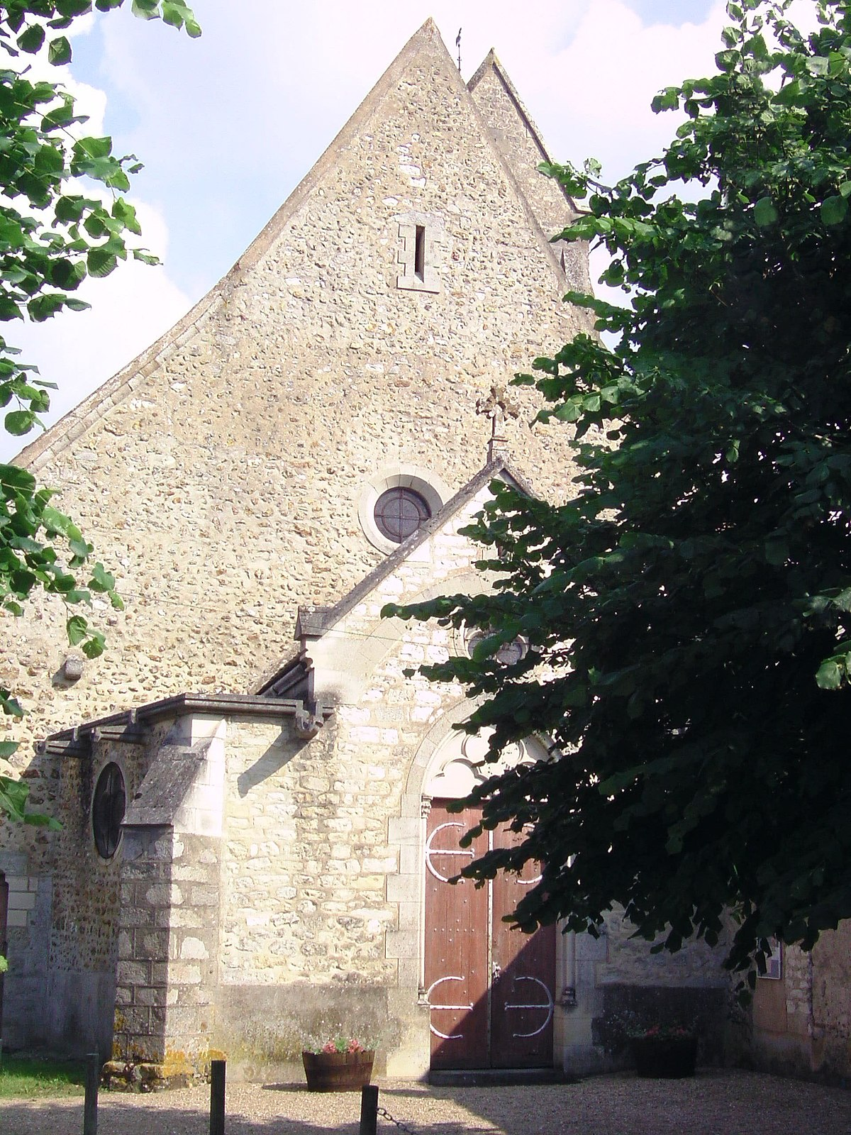Glise saint aubin de saint aubin sur yonne wikip dia - La petite cheminee saint aubin ...