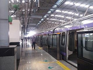 Salt Lake Stadium metro station Metro station in Kolkata, India