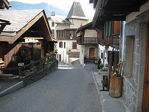 Salvan, Switzerland - Street in Salvan