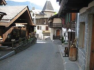 Salvan, Switzerland - Street in Salvan