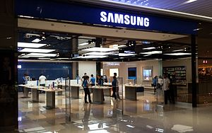 Samsung Electronics - A Samsung store in Taguig, Philippines.