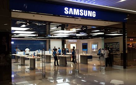 A Samsung store in Taguig, Philippines. Samsung in SM Aura, Bonifacio Global City.jpg