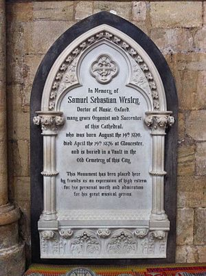 Samuel Sebastian Wesley - Memorial in Exeter Cathedral