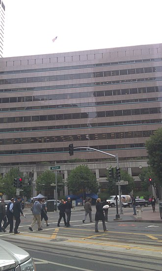 Federal Reserve Bank of San Francisco - The current Fed building in front view.