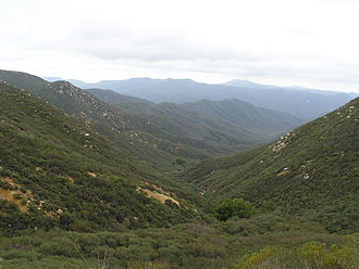 San Mateo Creek (Southern California) - San Mateo Canyon Wilderness in the northwest upper basin