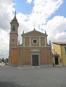 La chiesa parrocchiale di San Michele Arcangelo di Quarto Inferiore, frazione di Granarolo dell'Emilia.