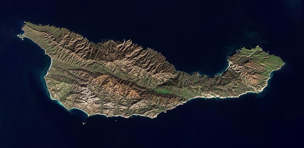 Santa Cruz Island by Sentinel-2