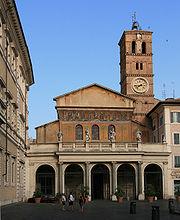 Santa Maria in Trastevere front