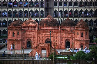 Sat Gambuj Mosque Mosque near Dhaka in Bangladesh