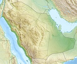 Map of Saudi Arabia Showing the location of Jabal al-Nour