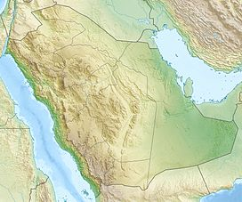 Map of Saudi Arabia Showing the location of Jabal Thawr