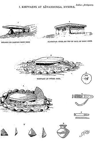 Savandurga - Branwell's excavations in 1881