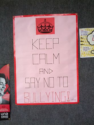 Bullying - Banner in a campaign against bullying Cefet-MG