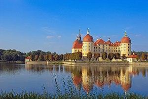 Moritzburg, Saxony - Image: Schloss Moritzburg von Süd West 2012 001 a
