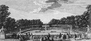 Château de Marly - The horse watering pool at the Château de Marly.