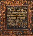 Schrifttafel Die heilige Familie auf der Flucht nach Ägypten 1625 Sophienkirche.jpg