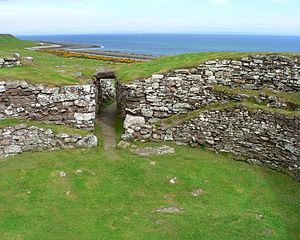 Carn Liath (broch) - Interior of Carn Liath