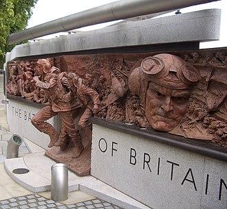 Battle of Britain Monument, London - Image: Scramble detail 2