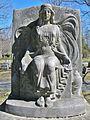 Seated Woman Monument, Lowell Cemetery, Lowell, MA - March 2016.JPG