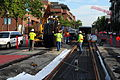 Seattle - laying trolley tracks on Broadway at Pine 08.jpg