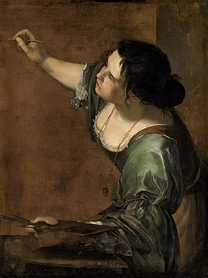 Self-Portrait as the Allegory of Painting - Image: Self portrait as the Allegory of Painting (La Pittura) Artemisia Gentileschi