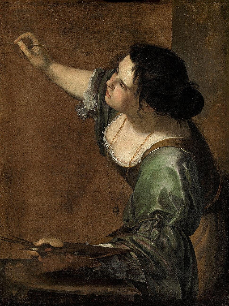 Self-portrait as the Allegory of Painting (La Pittura) - Artemisia Gentileschi