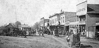Seligman, Missouri - A traveling circus arrives in Seligman, late 19th century