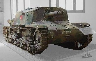 133rd Armoured Division Littorio - Image: Semovente M42.Saumur.0008fefh