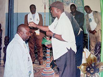 Bamunka - Senator Dingha Ignatius Bayin Receives traditional Benediction upon his election to the Senate
