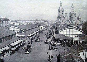 USSR anti-religious campaign (1958–1964) - The Saviour Church on Sennaya Square in Leningrad was one of many notable church buildings destroyed during The Thaw