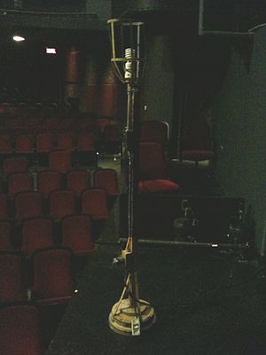 Ghost light (theatre) - A ghost light.