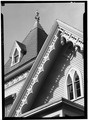 September 1966 DETAIL TOWER AND GABLE - Moses Bulkley House, 176 Main Street, Southport, Fairfield County, CT HABS CONN,1-SOUPO,12-3.tif